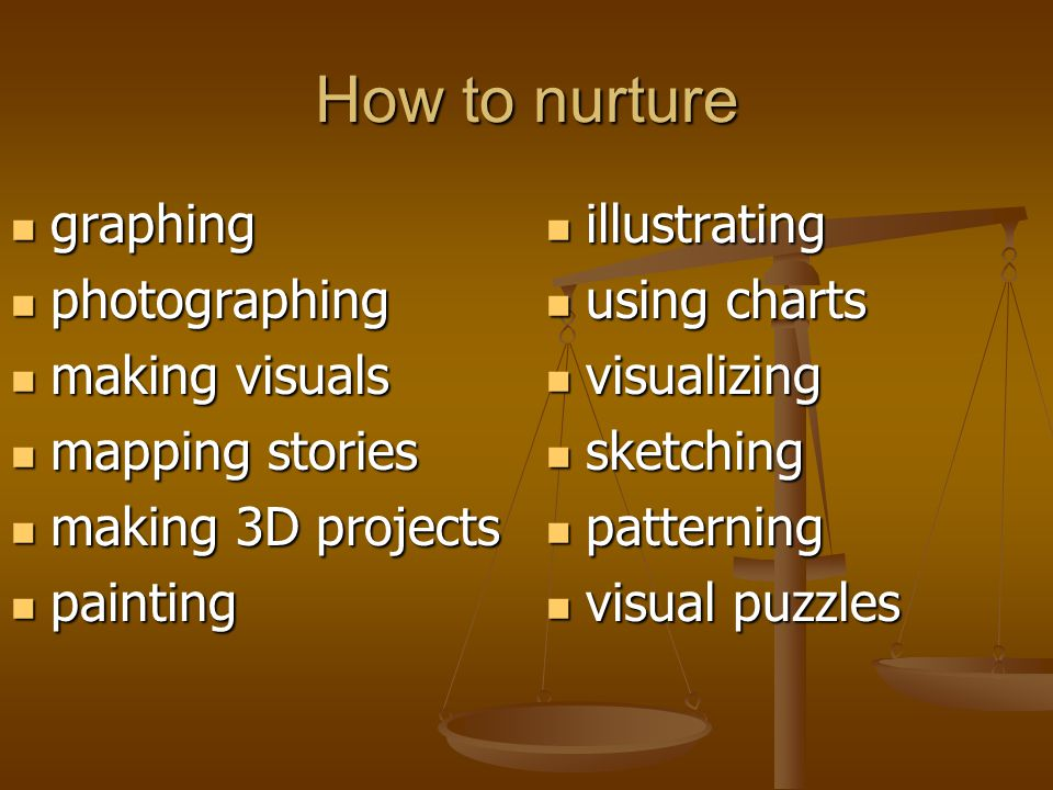 How to nurture graphing photographing making visuals mapping stories