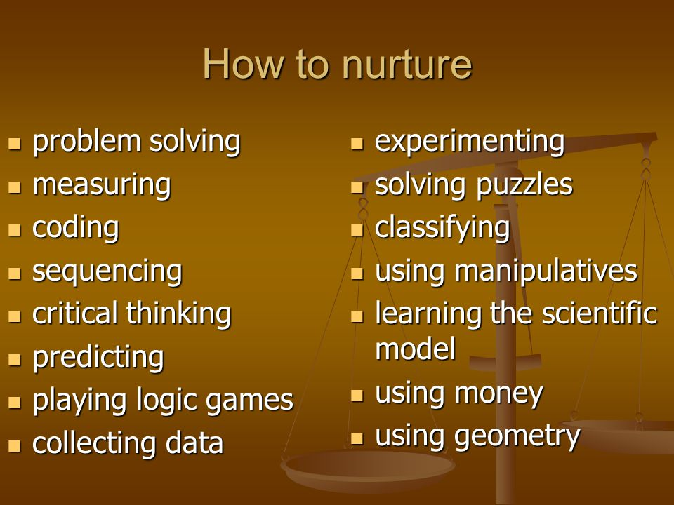 How to nurture problem solving measuring coding sequencing