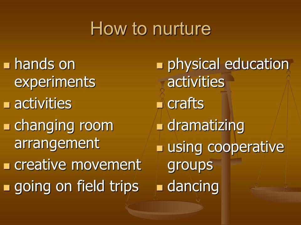 How to nurture hands on experiments activities