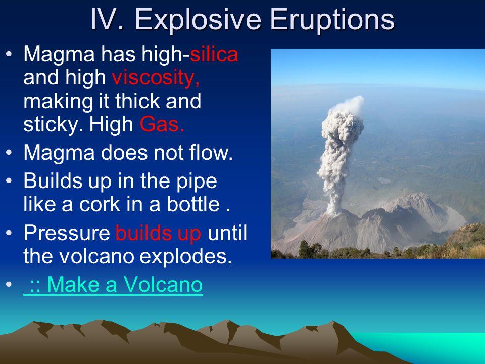 IV. Explosive Eruptions