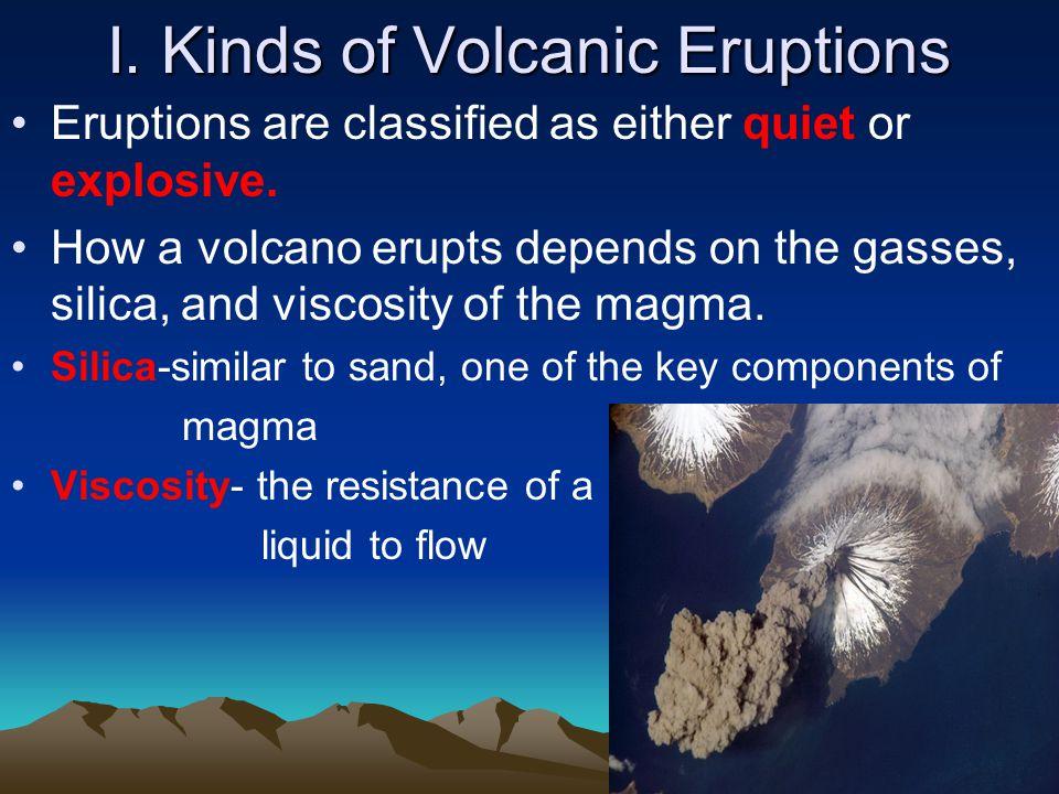 I. Kinds of Volcanic Eruptions