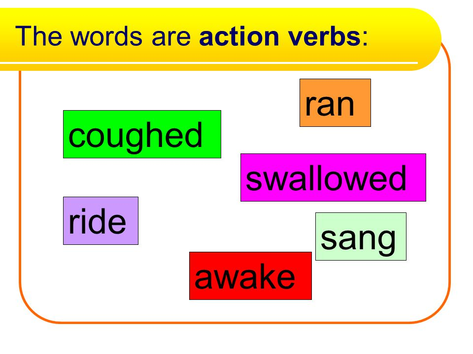 action verbs words