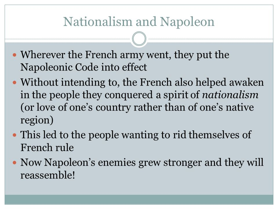 Nationalism and Napoleon