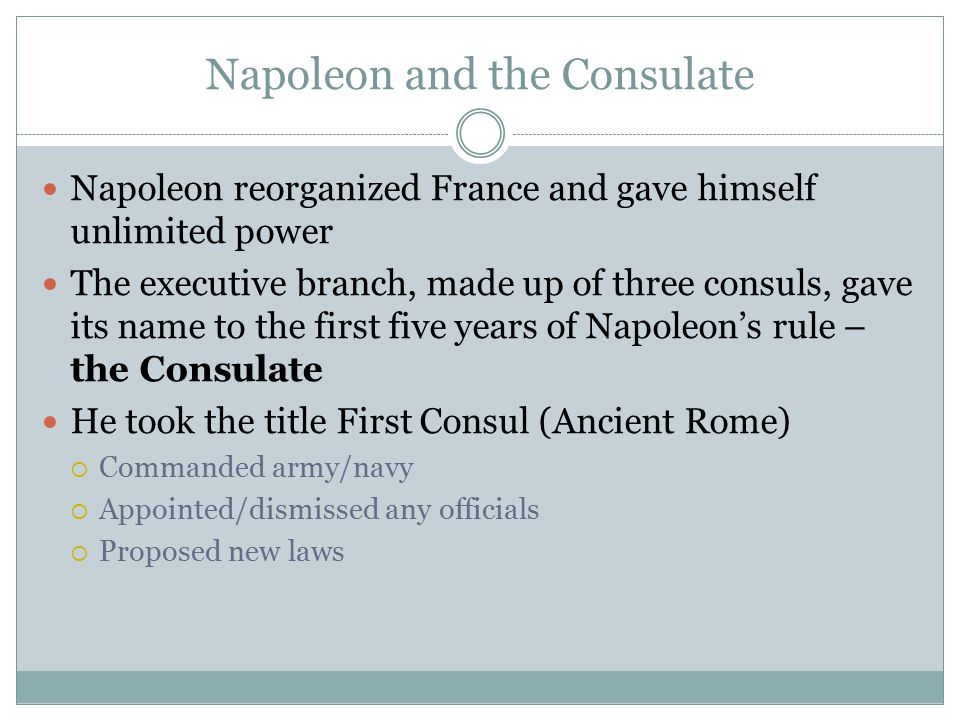 Napoleon and the Consulate