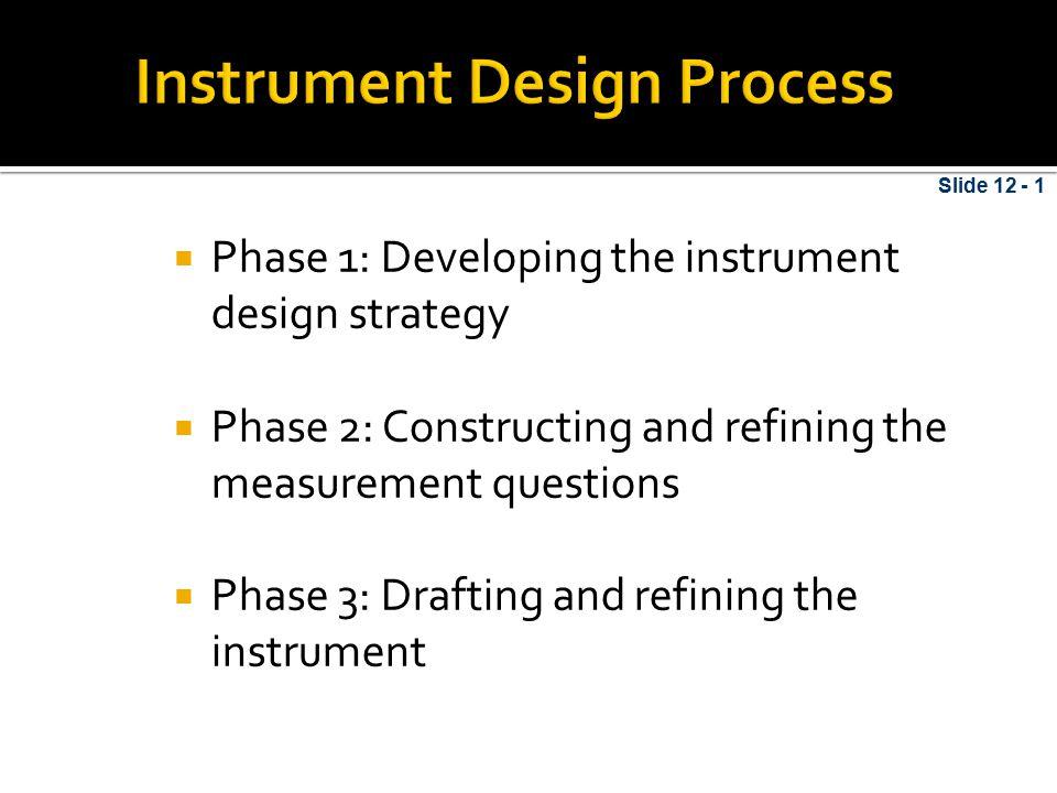Instrument Design Process