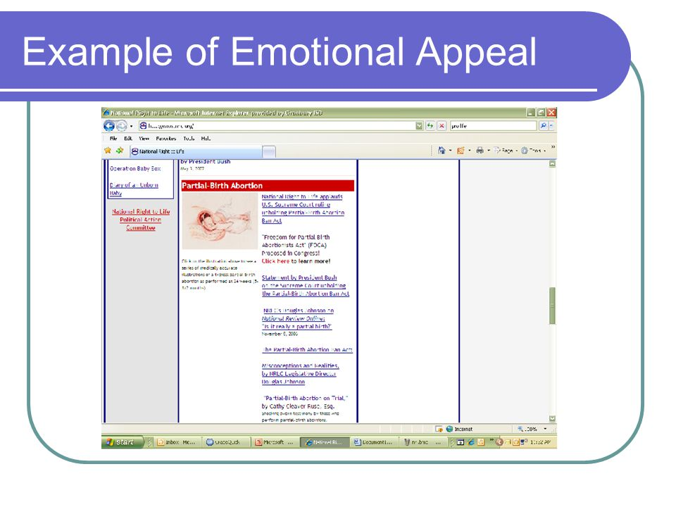 Example of Emotional Appeal
