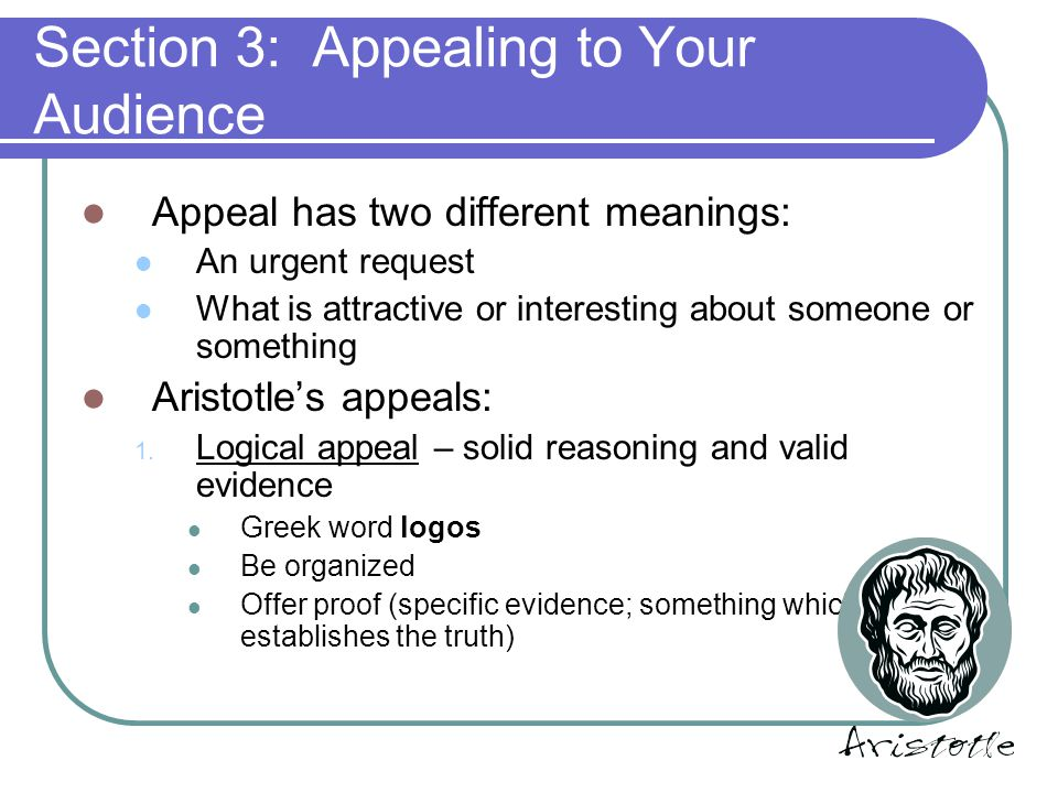 Section 3: Appealing to Your Audience