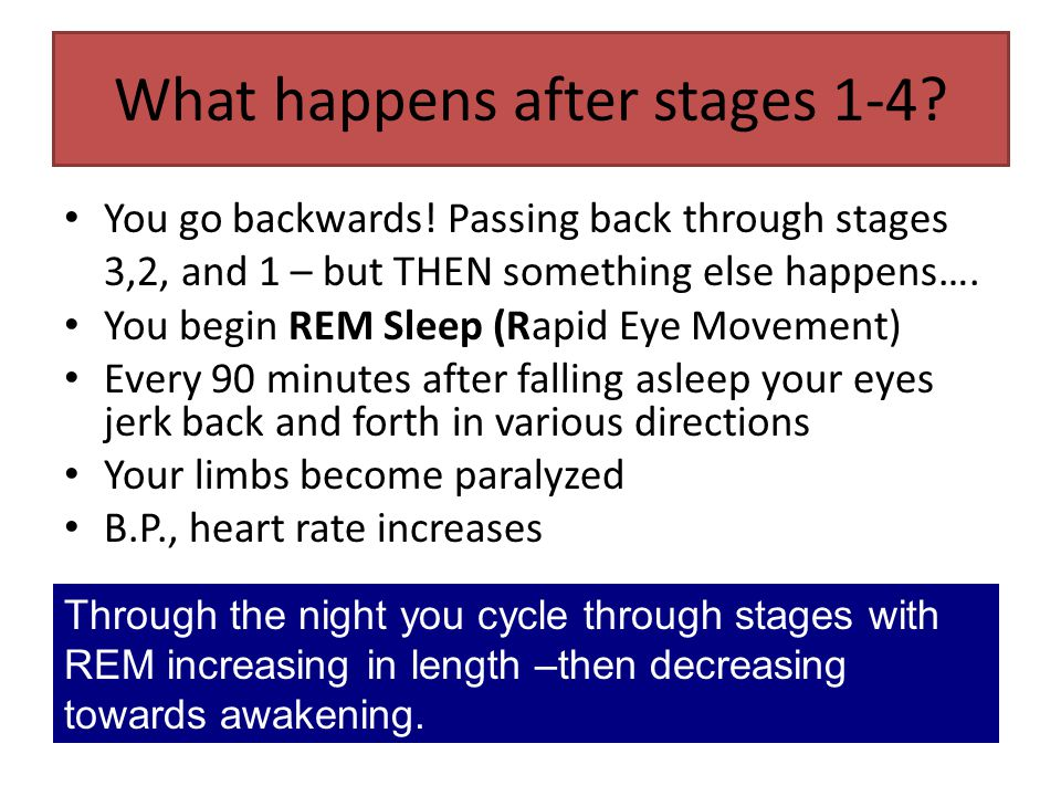 What happens after stages 1-4