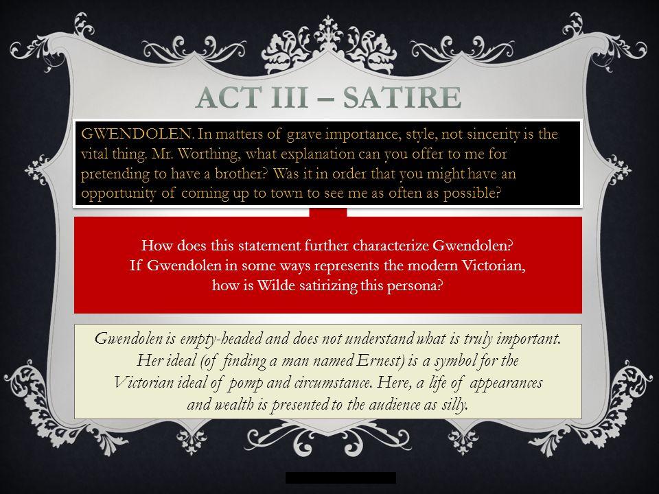 Act III – satire