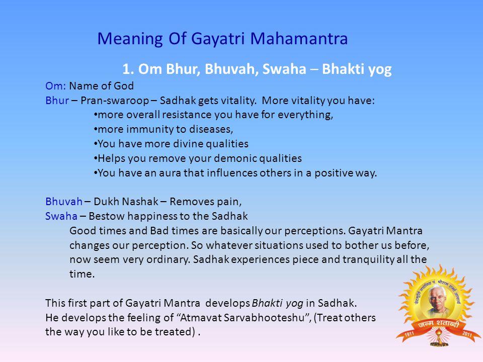 Meaning Of Gayatri Mahamantra