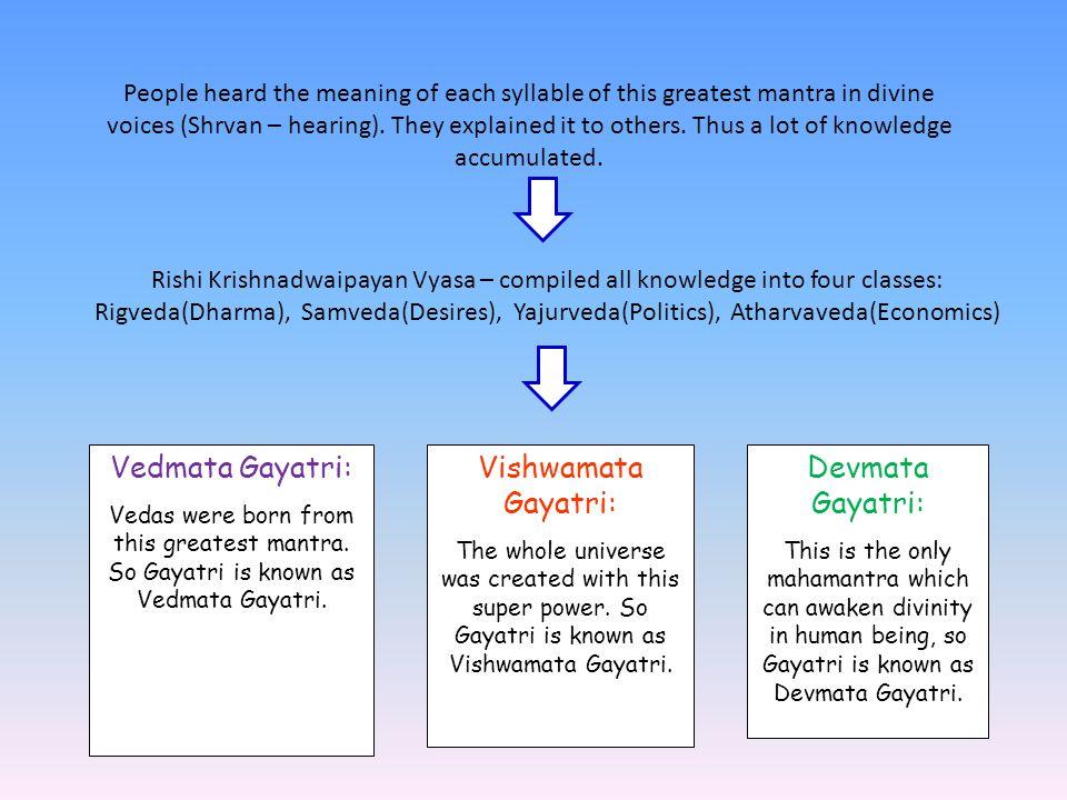 Vedmata Gayatri: Vishwamata Gayatri: Devmata Gayatri:
