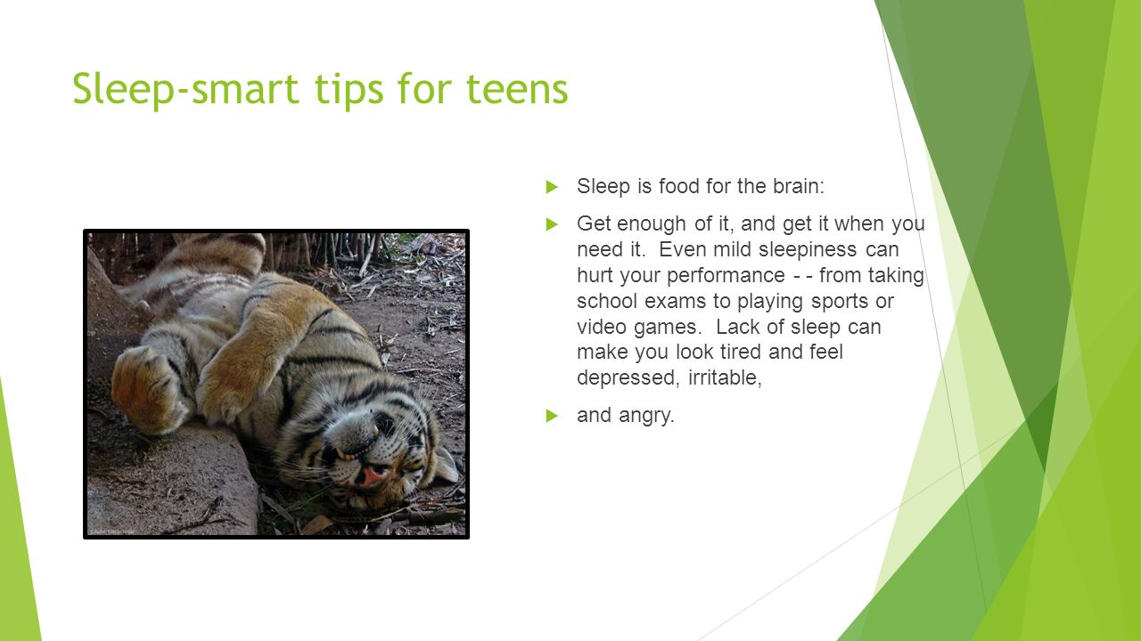 Sleep-smart tips for teens