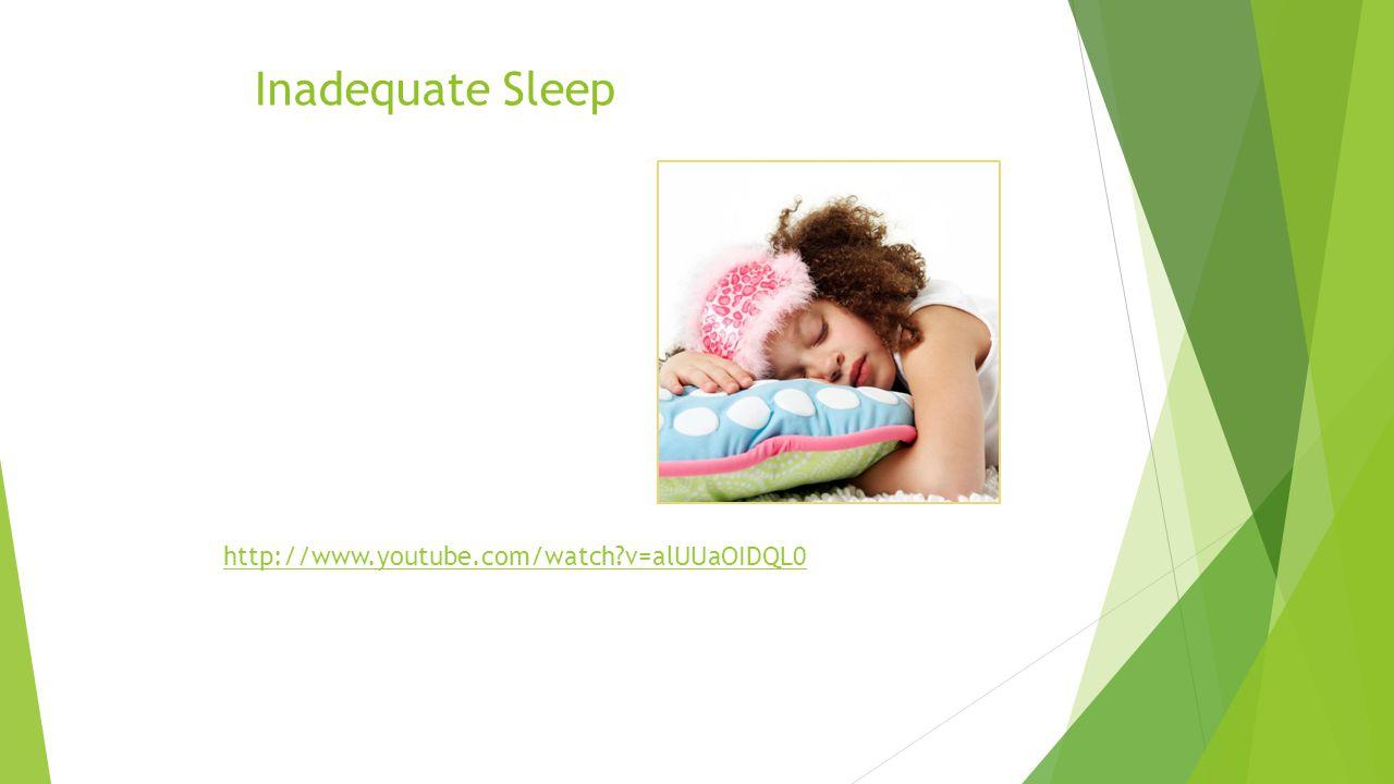 Inadequate Sleep http://www.youtube.com/watch v=alUUaOIDQL0