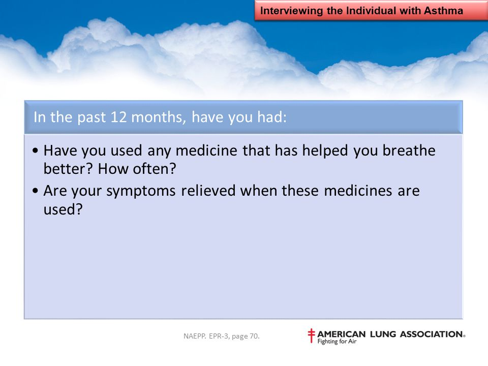 Interviewing the Individual with Asthma