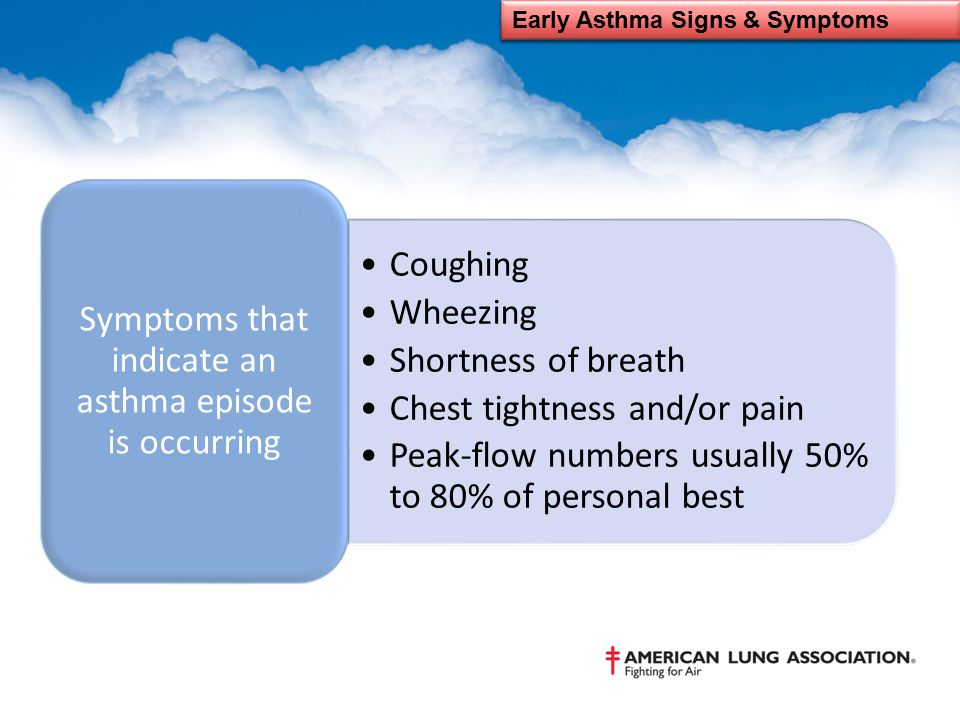 Early Asthma Signs & Symptoms