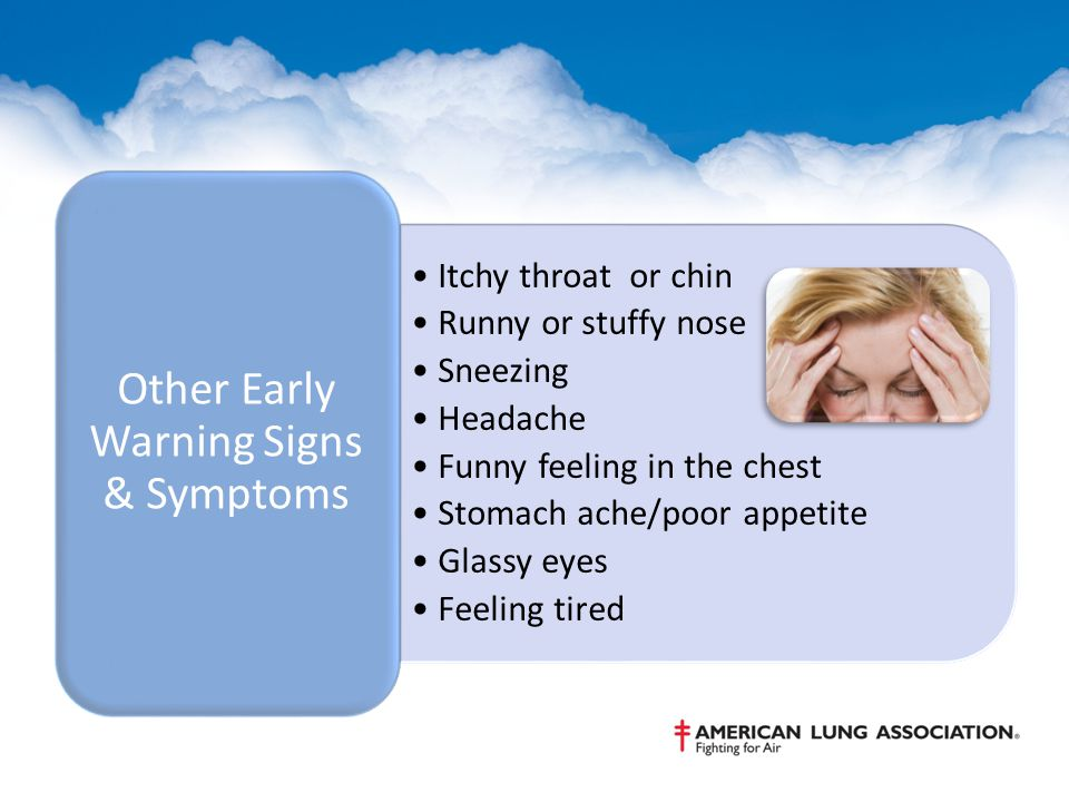 Other Early Warning Signs & Symptoms