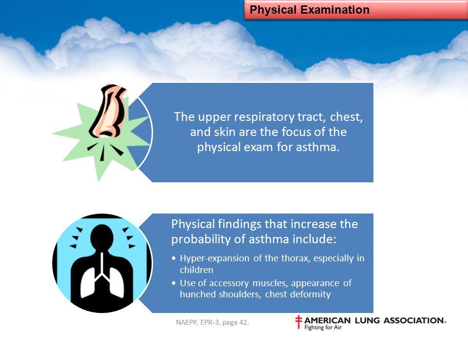 Physical Examination NAEPP. EPR-3, page 42.