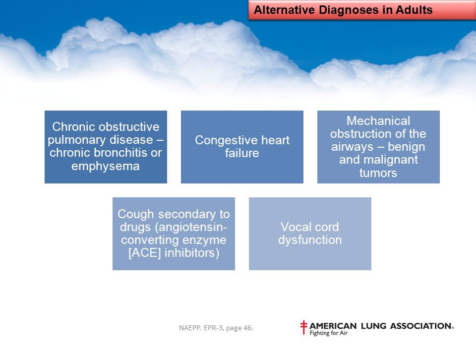 Alternative Diagnoses in Adults