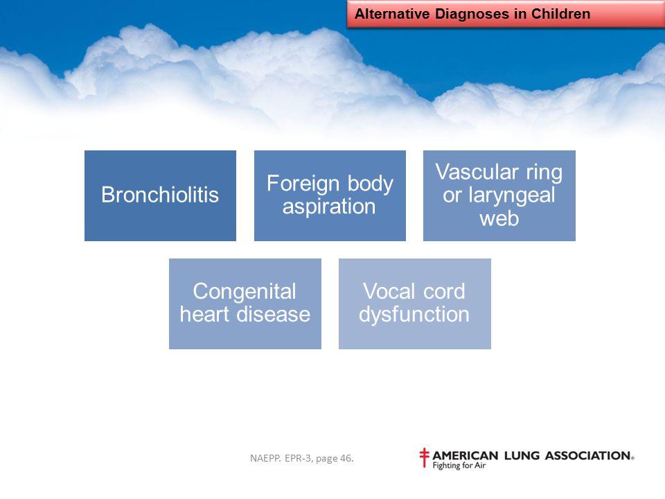 Alternative Diagnoses in Children