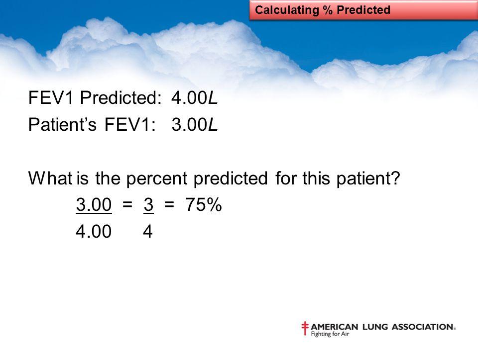 Calculating % Predicted