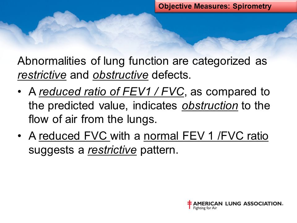 Objective Measures: Spirometry