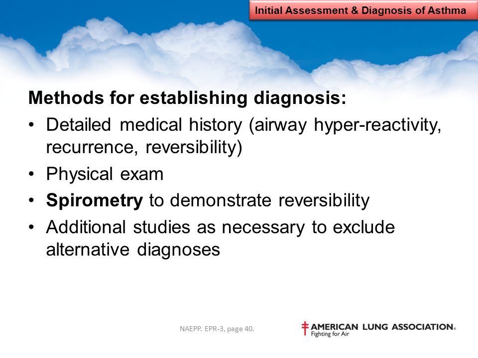 Initial Assessment & Diagnosis of Asthma