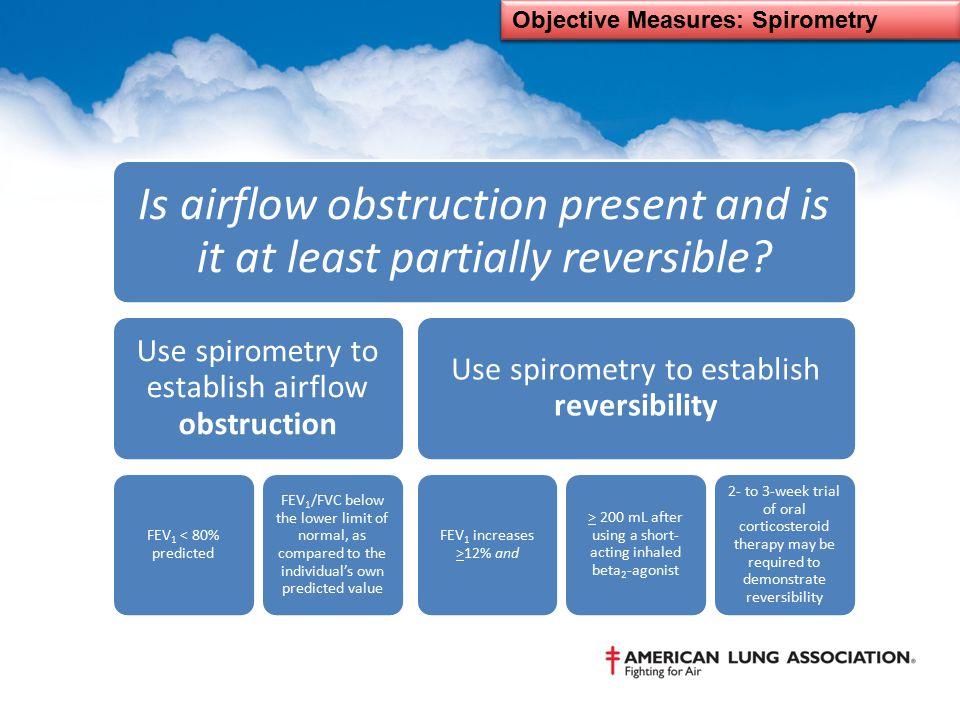 Objective Measures: Spirometry