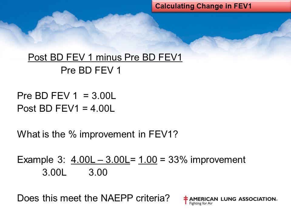Calculating Change in FEV1