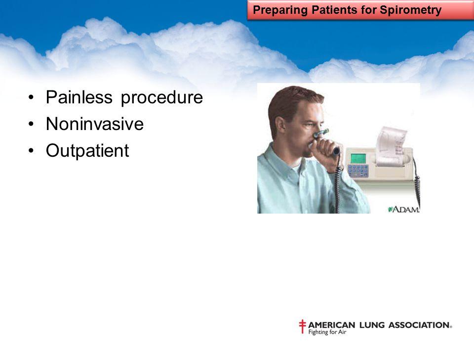 Preparing Patients for Spirometry