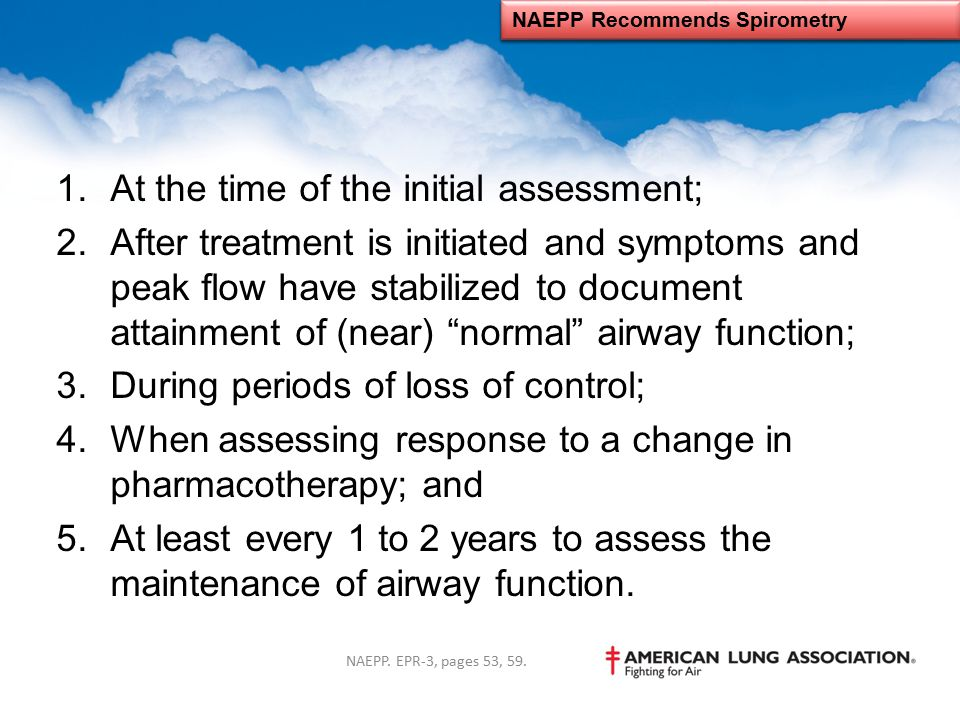 NAEPP Recommends Spirometry