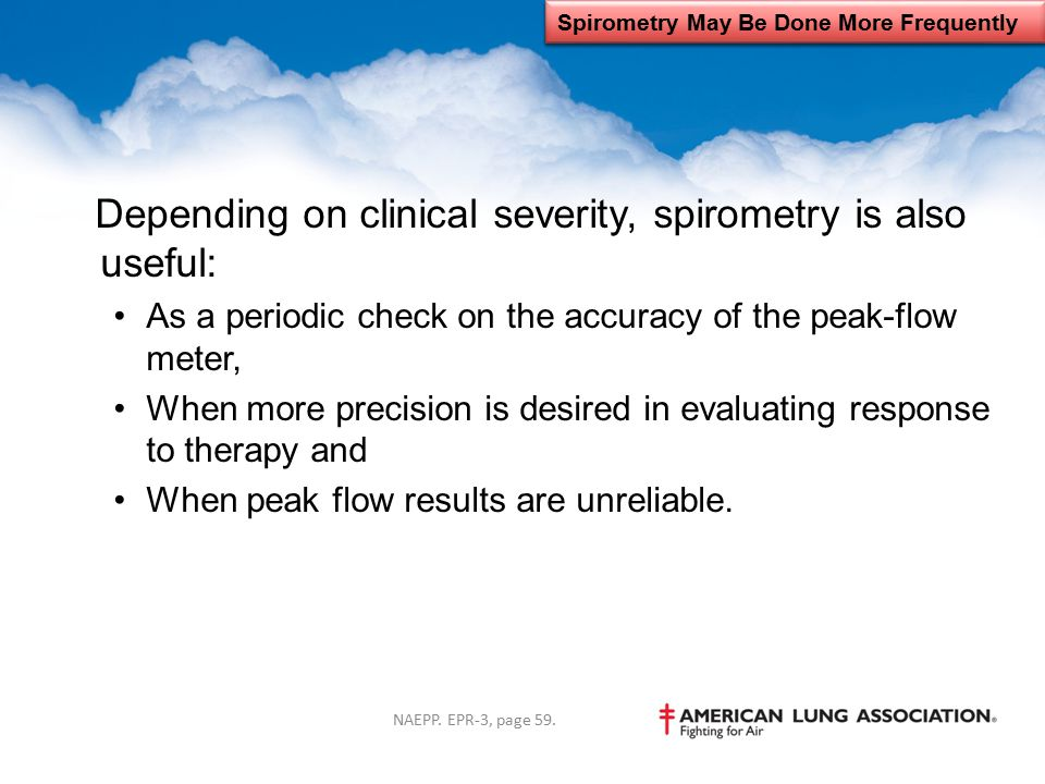 Spirometry May Be Done More Frequently