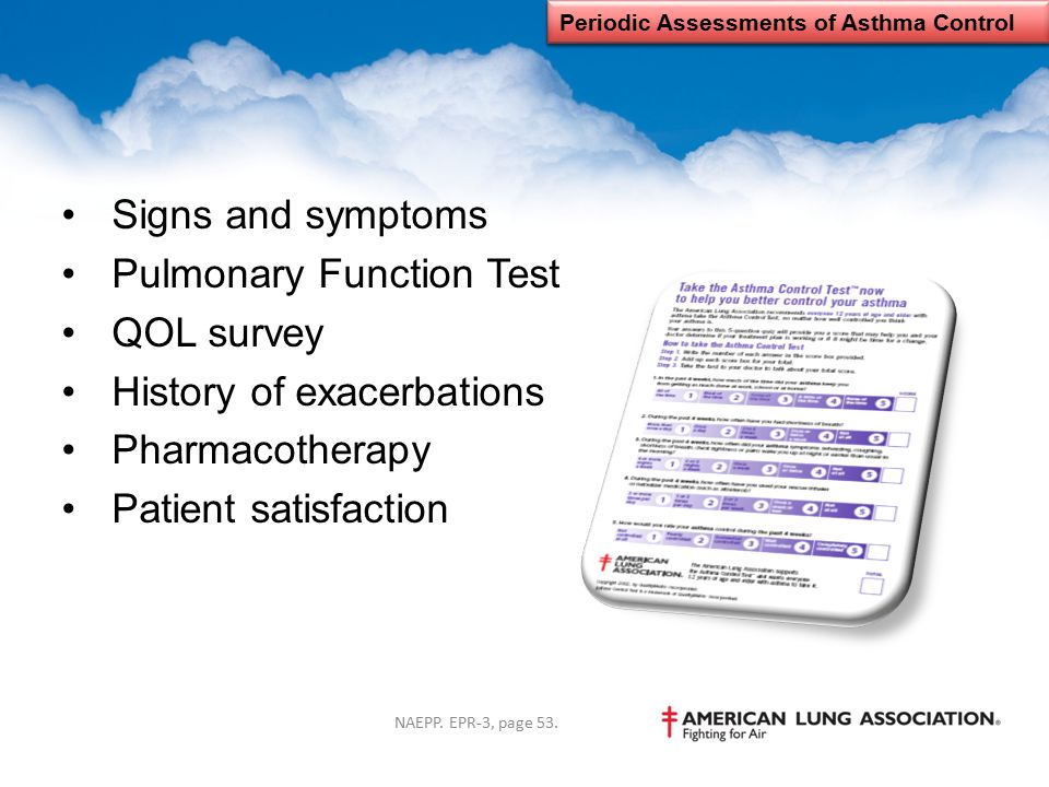 Periodic Assessments of Asthma Control