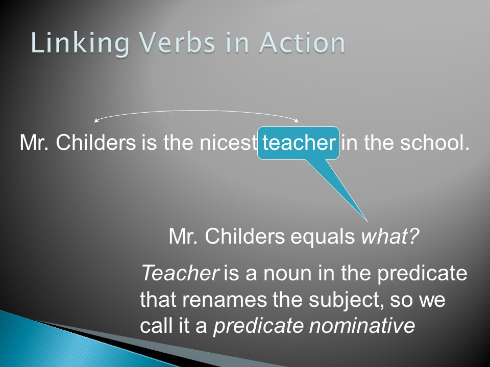 Linking Verbs in Action