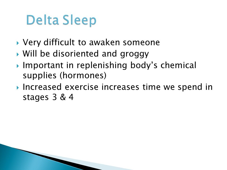 Delta Sleep Very difficult to awaken someone