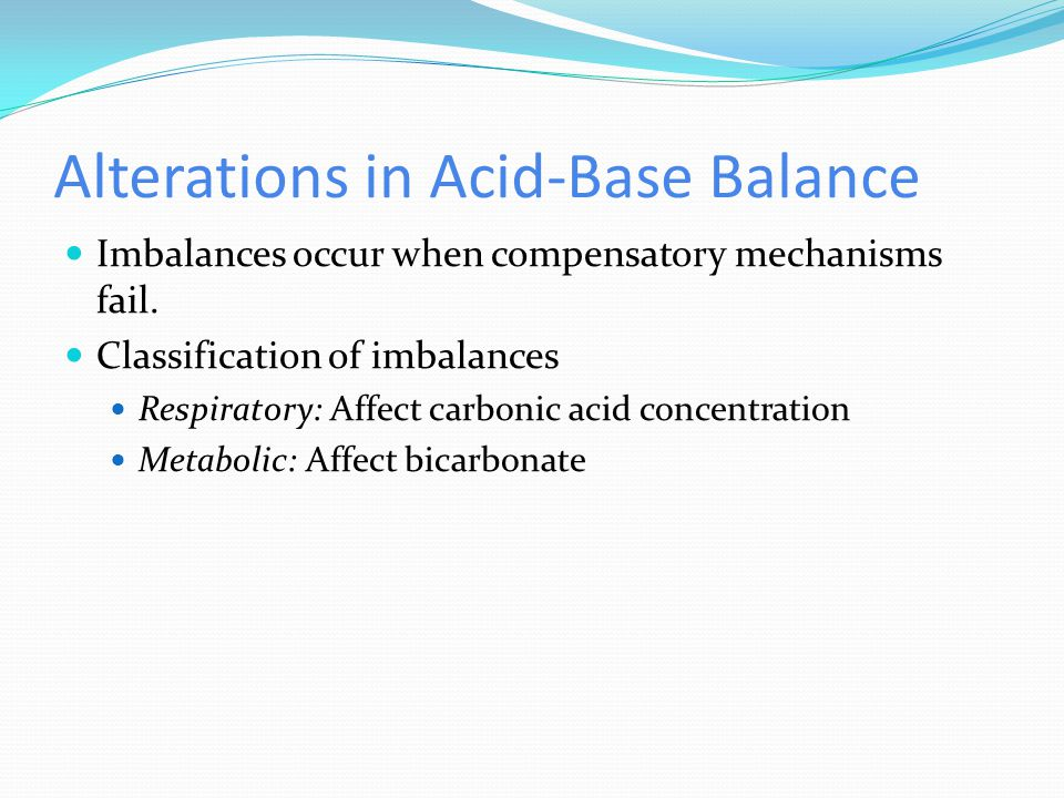 Alterations in Acid-Base Balance