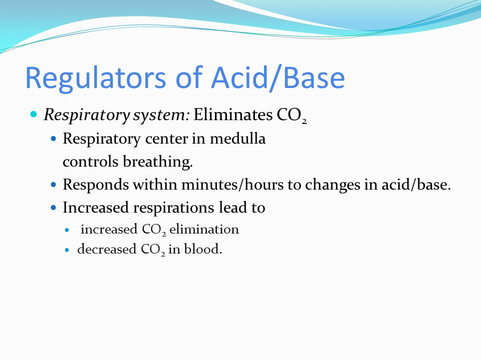 Regulators of Acid/Base