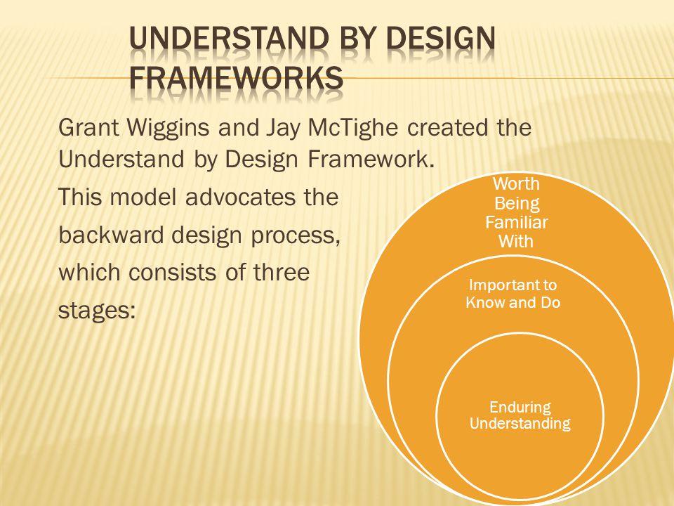 Understand by Design Frameworks