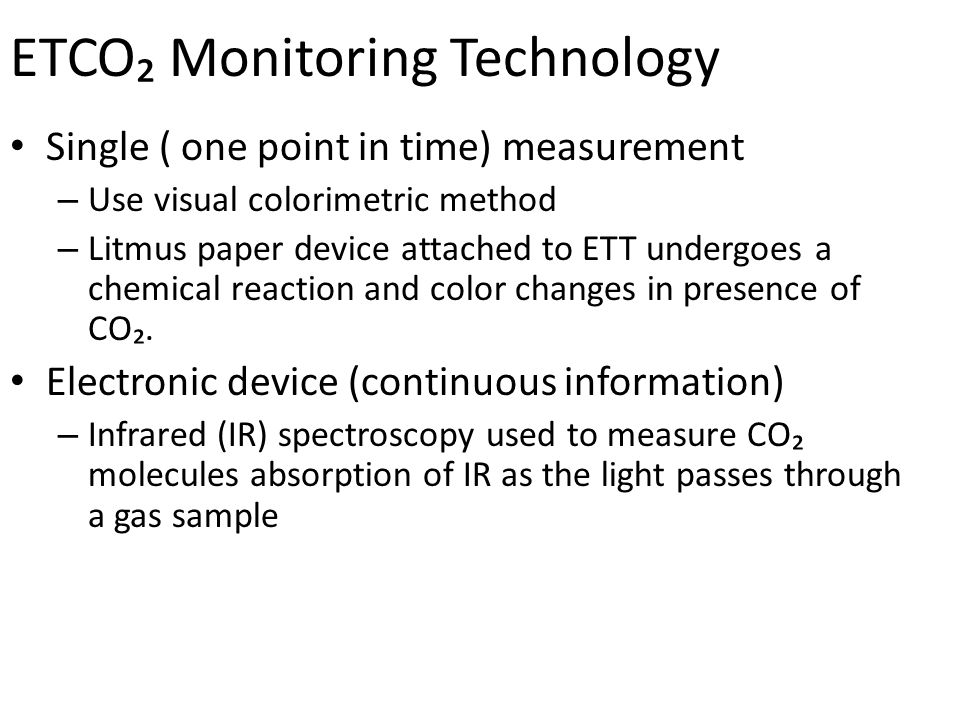 ETCO₂ Monitoring Technology