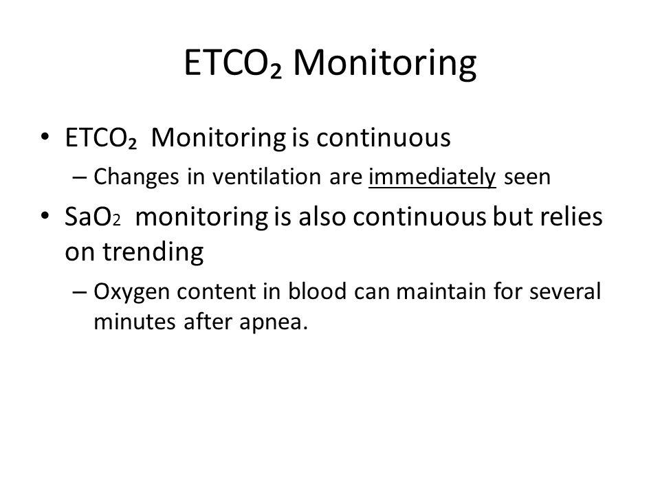 ETCO₂ Monitoring ETCO₂ Monitoring is continuous