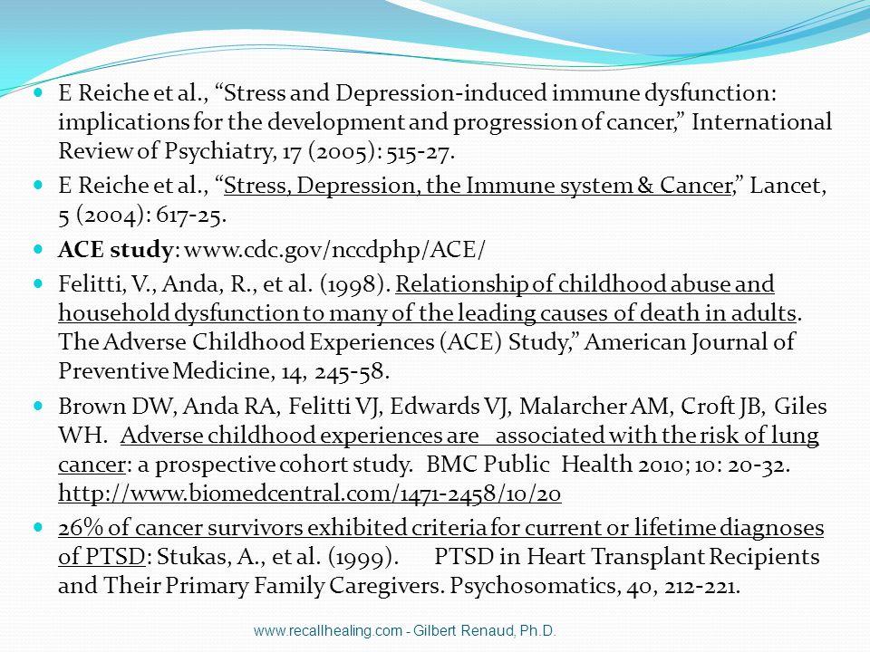 ACE study: www.cdc.gov/nccdphp/ACE/