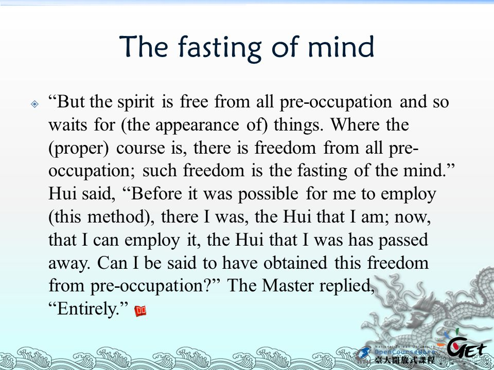 The fasting of mind
