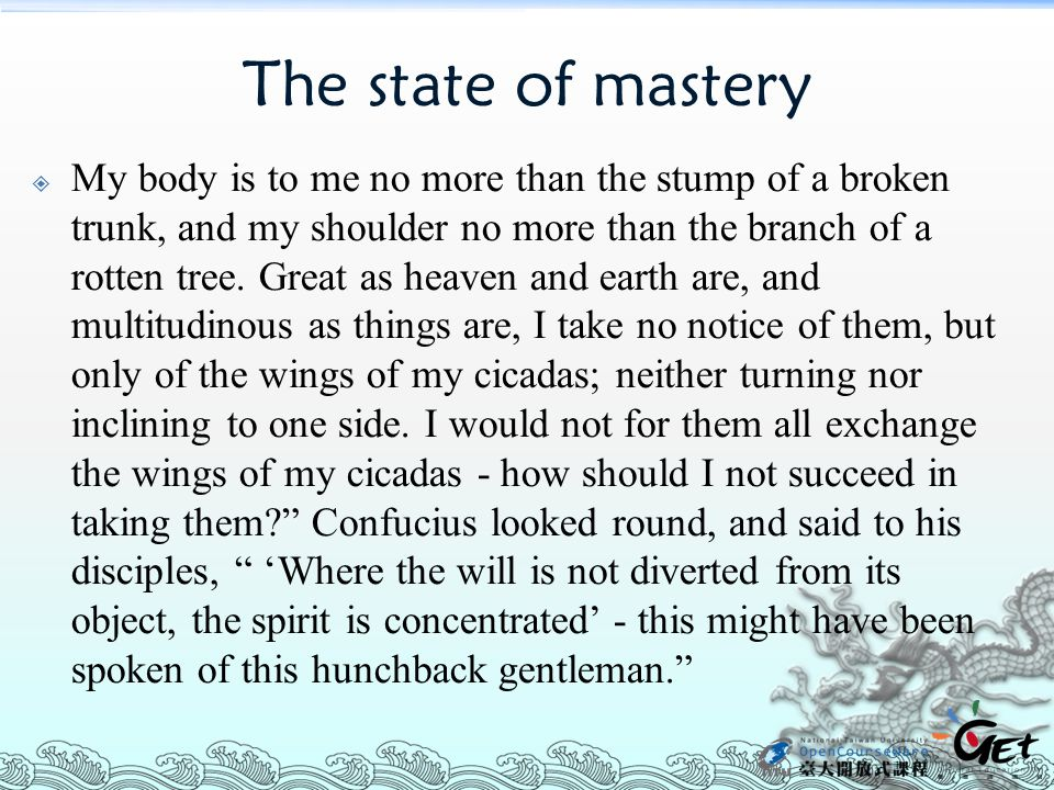 The state of mastery