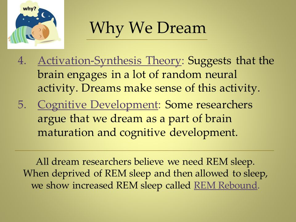we show increased REM sleep called REM Rebound.
