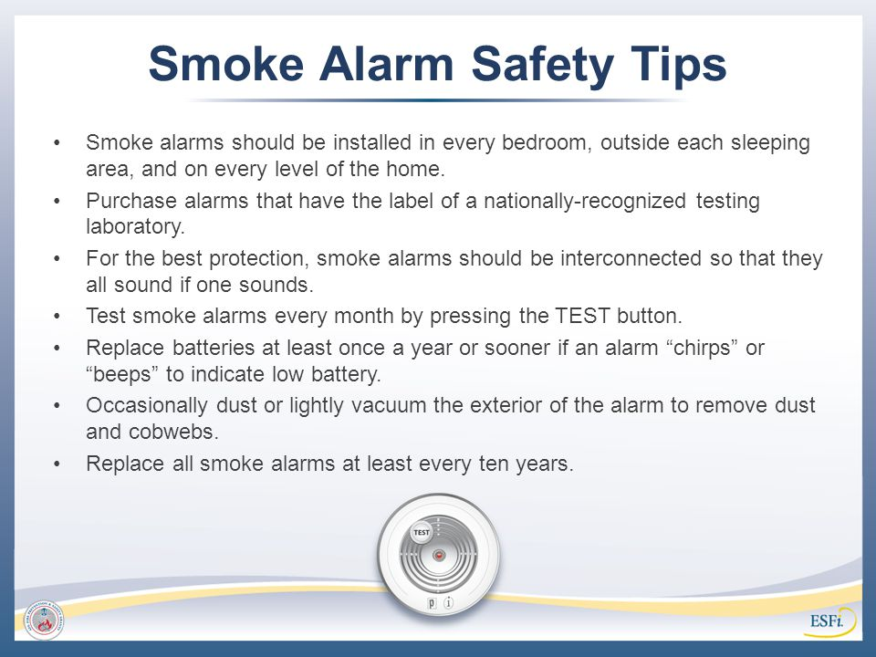 Smoke Alarm Safety Tips