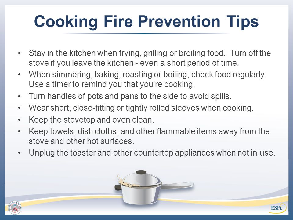 Cooking Fire Prevention Tips