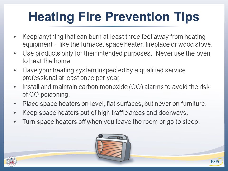 Heating Fire Prevention Tips