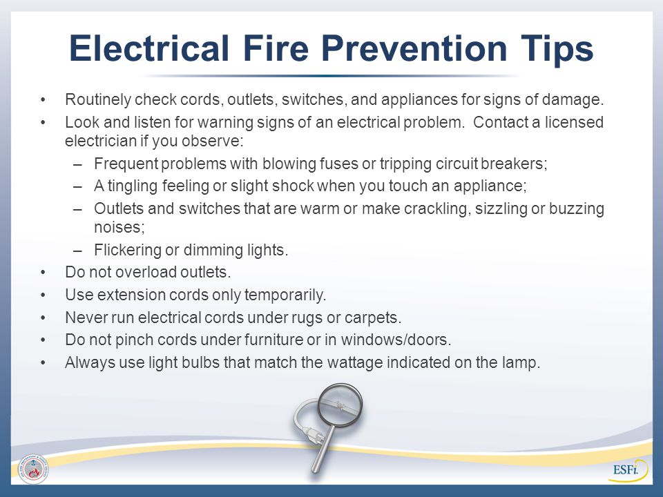 Electrical Fire Prevention Tips