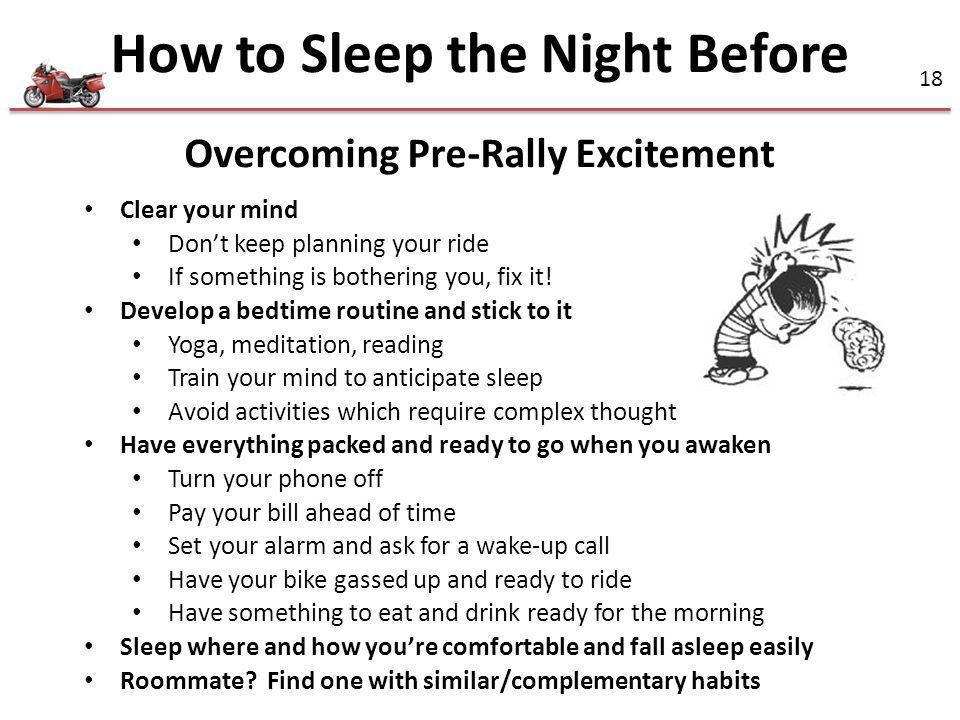 How to Sleep the Night Before Overcoming Pre-Rally Excitement