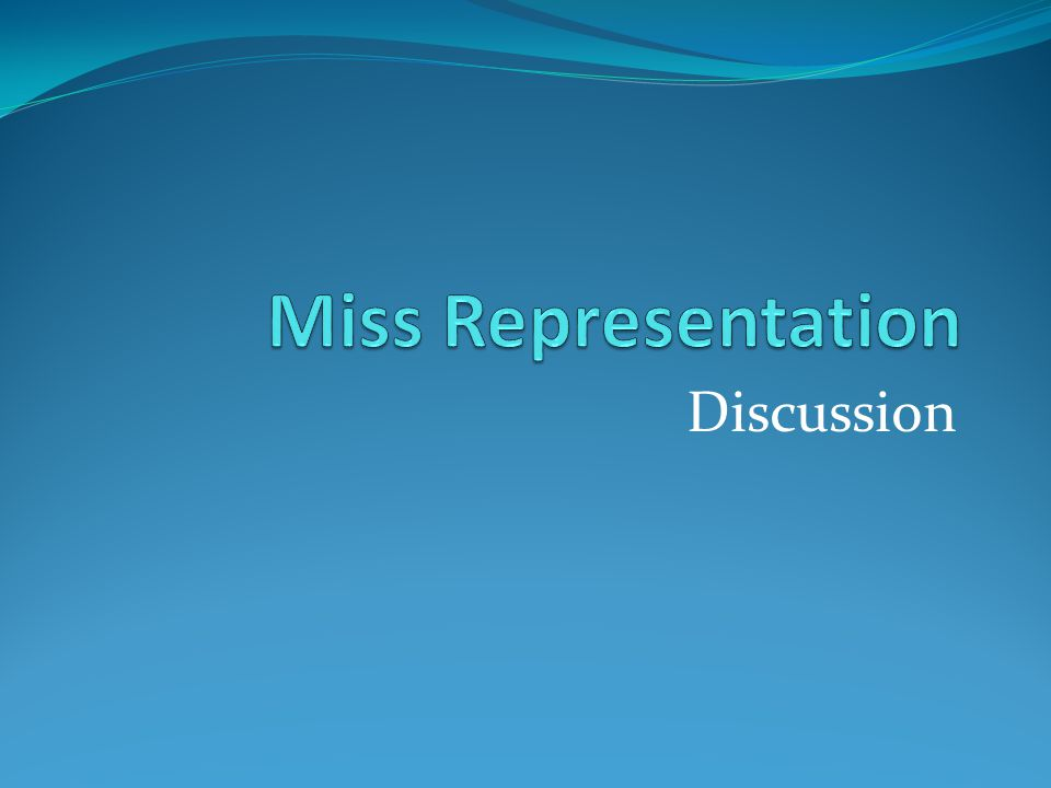 Miss Representation Discussion