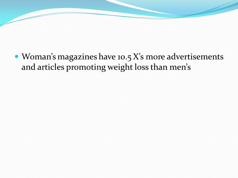 Woman's magazines have 10